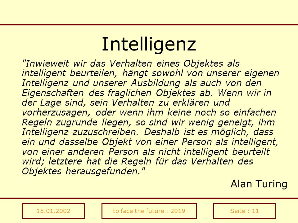 Intelligenz Alan Turing