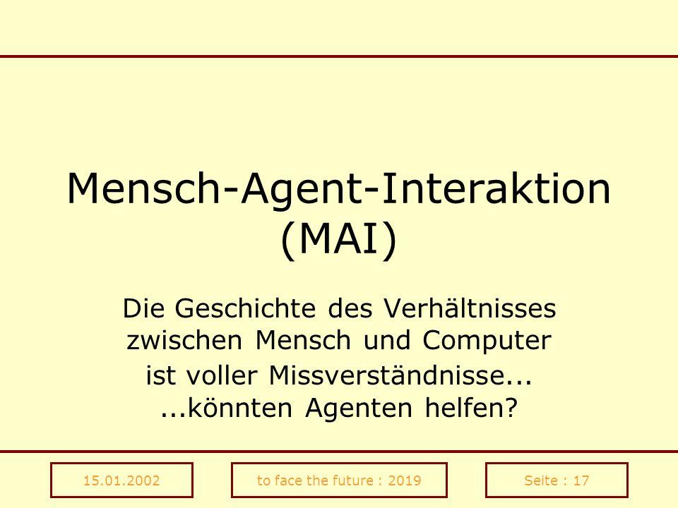 Mensch-Agent-Interaktion (MAI)