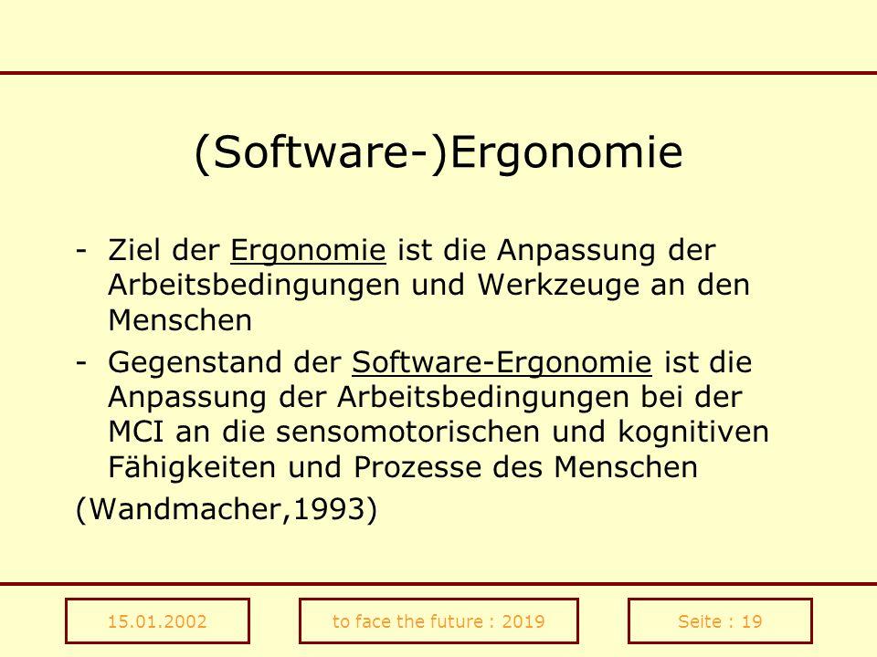 (Software-)Ergonomie