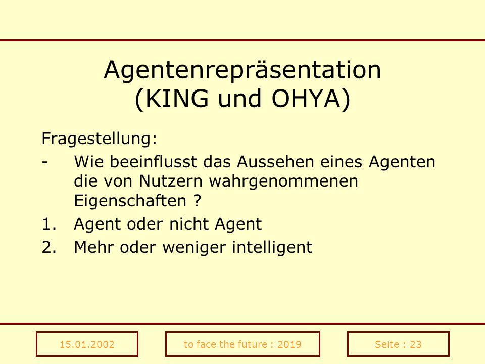 Agentenrepräsentation (KING und OHYA)