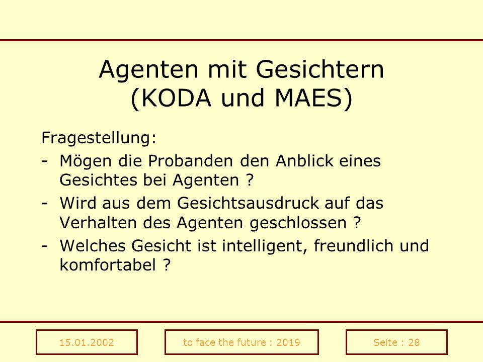Agenten mit Gesichtern (KODA und MAES)