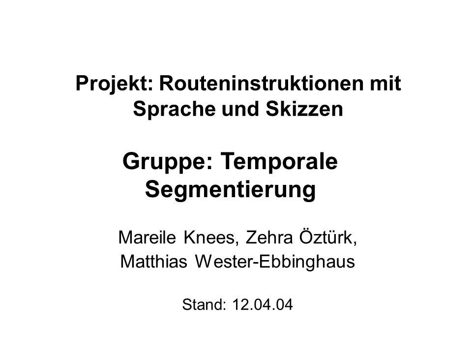 Projekt: Routeninstruktionen mit Sprache und Skizzen