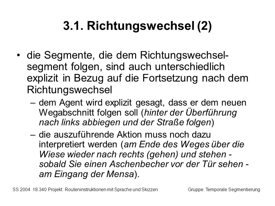3.1. Richtungswechsel (2)