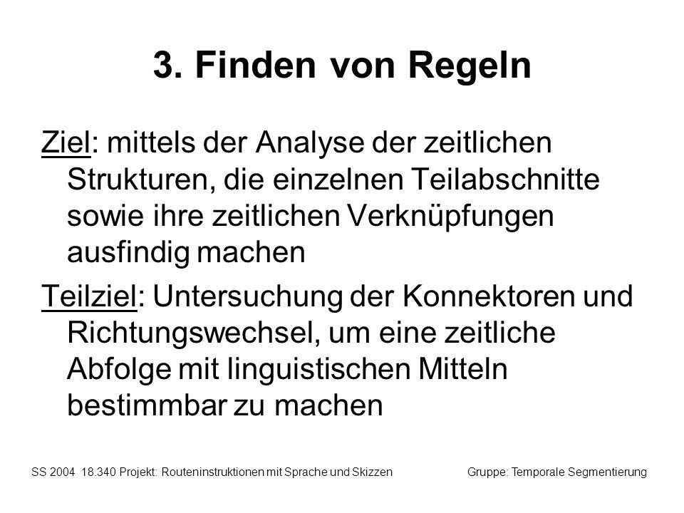 3. Finden von Regeln