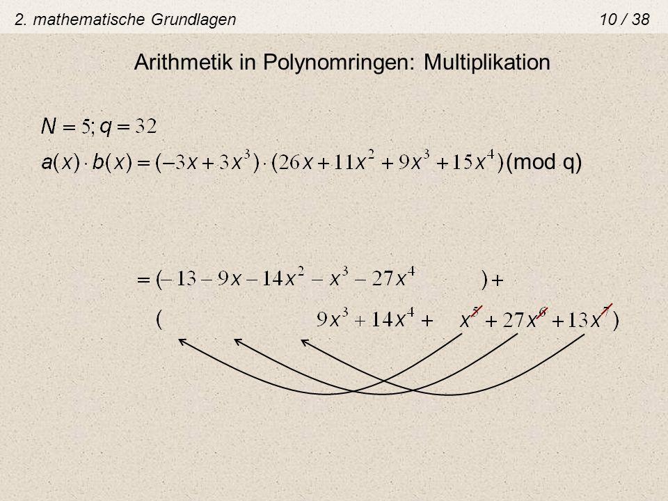 Arithmetik in Polynomringen: Multiplikation