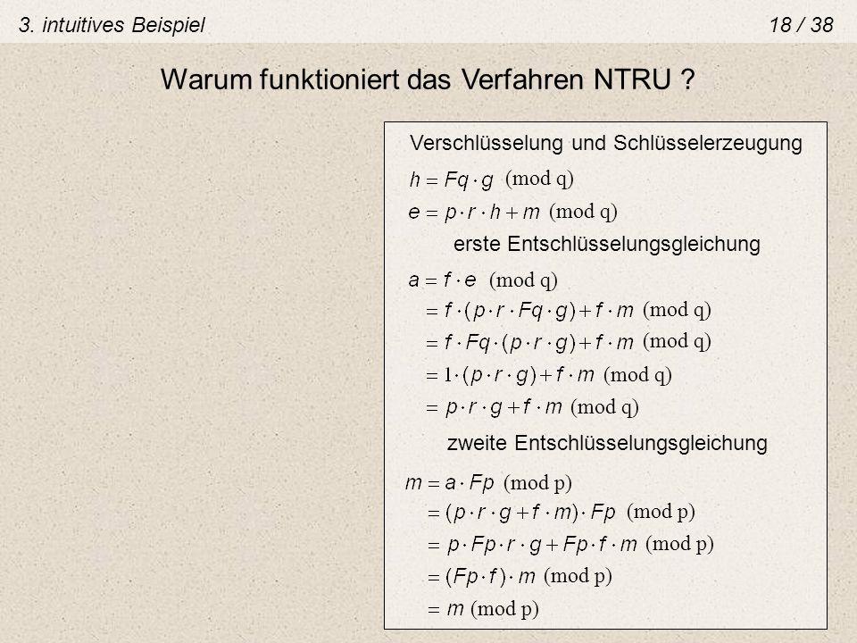 Warum funktioniert das Verfahren NTRU