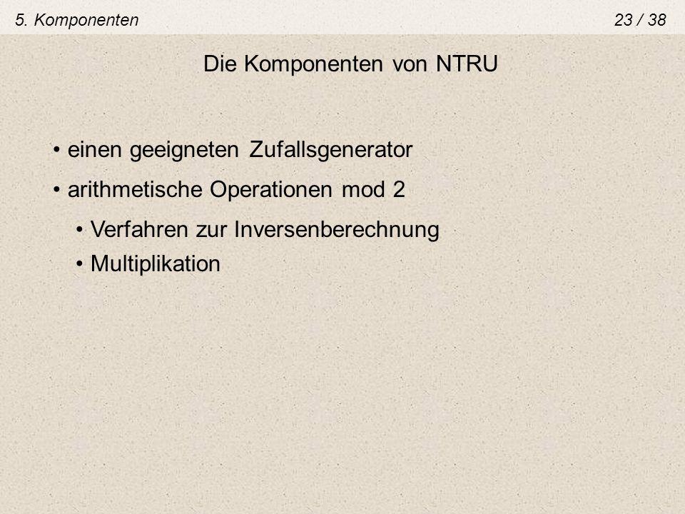 Die Komponenten von NTRU