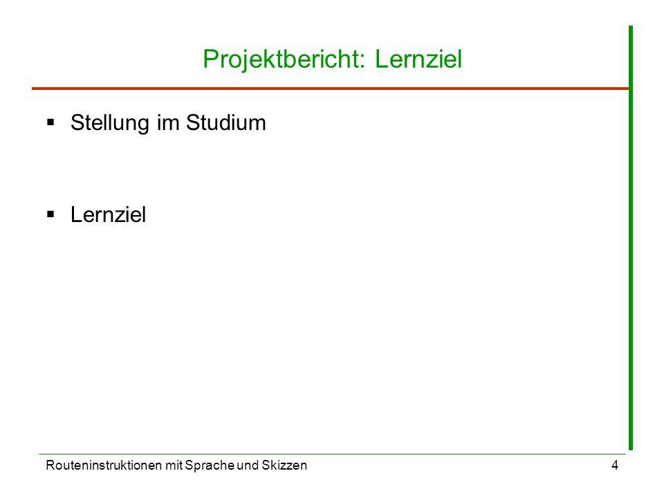 Projektbericht: Lernziel