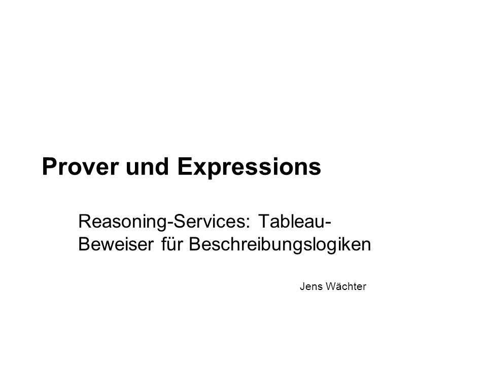 Prover und Expressions