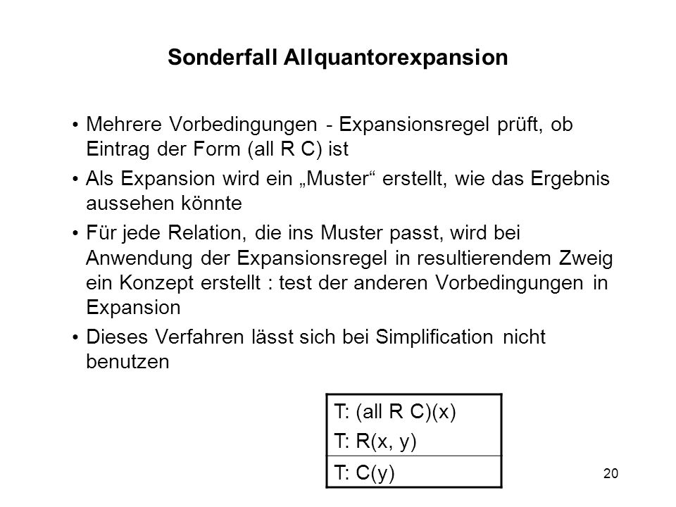 Sonderfall Allquantorexpansion
