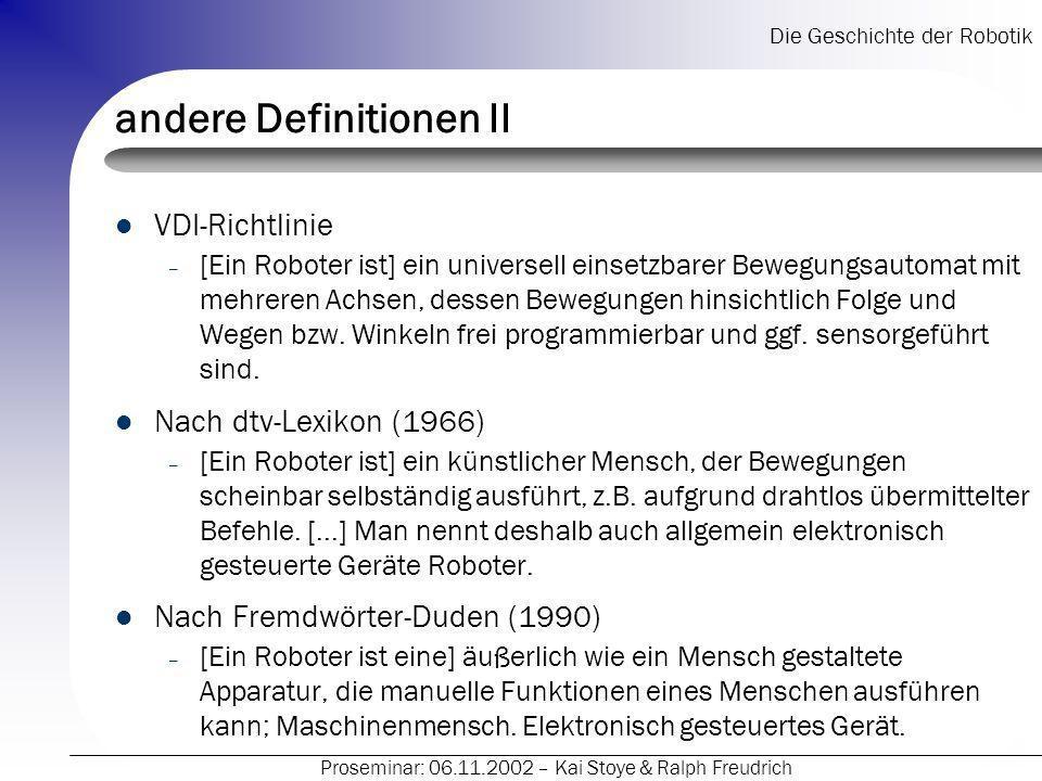 andere Definitionen II
