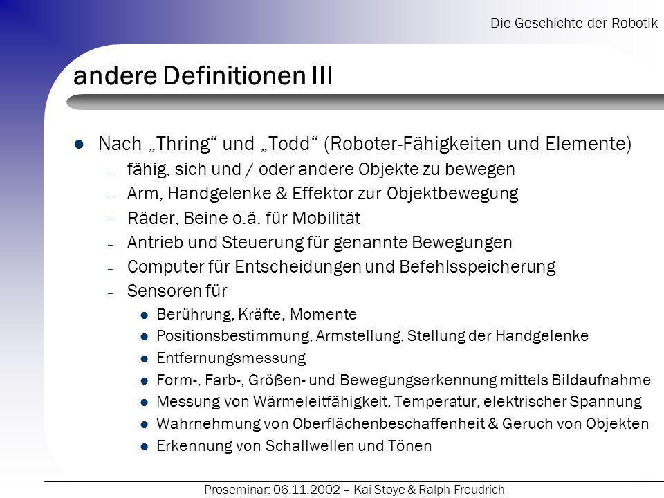 andere Definitionen III