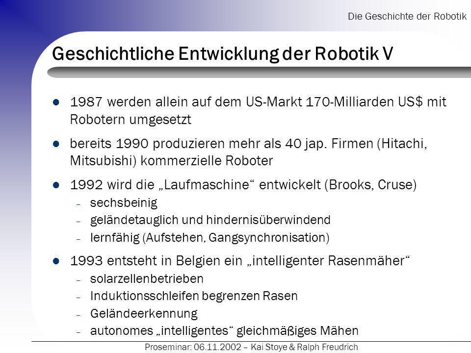 Geschichtliche Entwicklung der Robotik V
