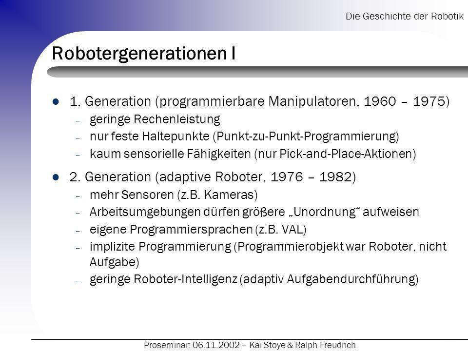 Robotergenerationen I
