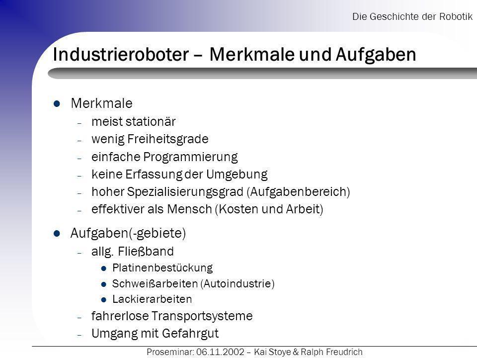 Industrieroboter – Merkmale und Aufgaben