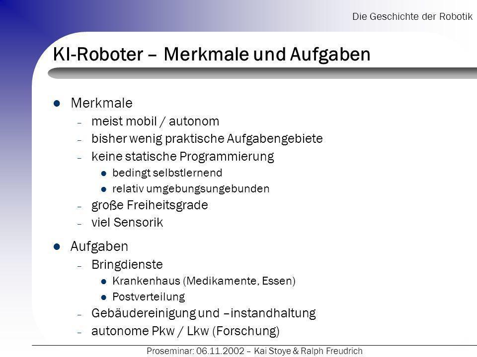 KI-Roboter – Merkmale und Aufgaben