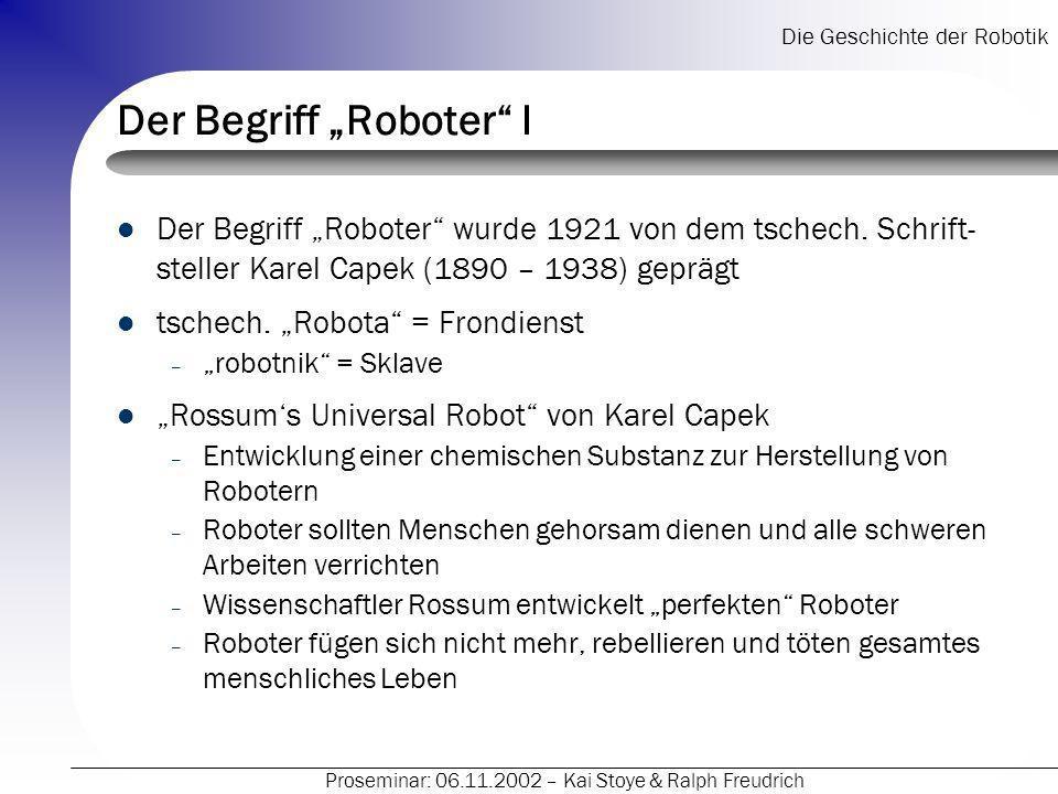 """Der Begriff """"Roboter I"""