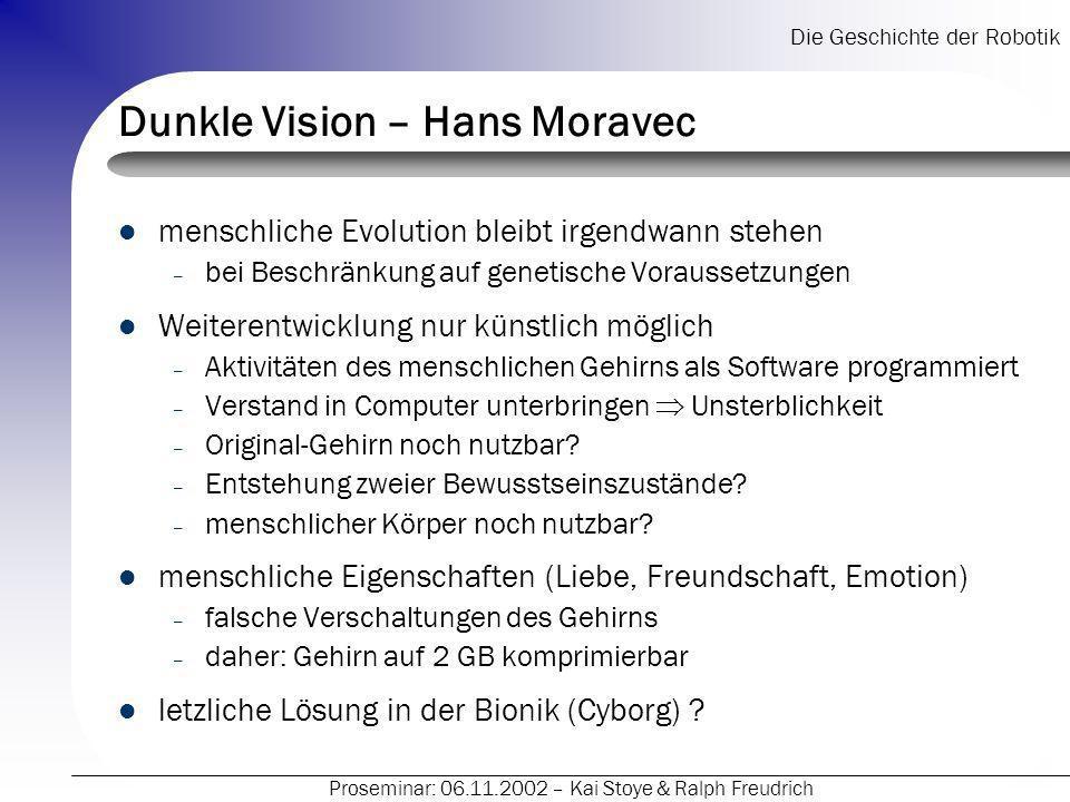 Dunkle Vision – Hans Moravec