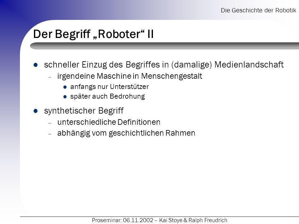 "Der Begriff ""Roboter II"