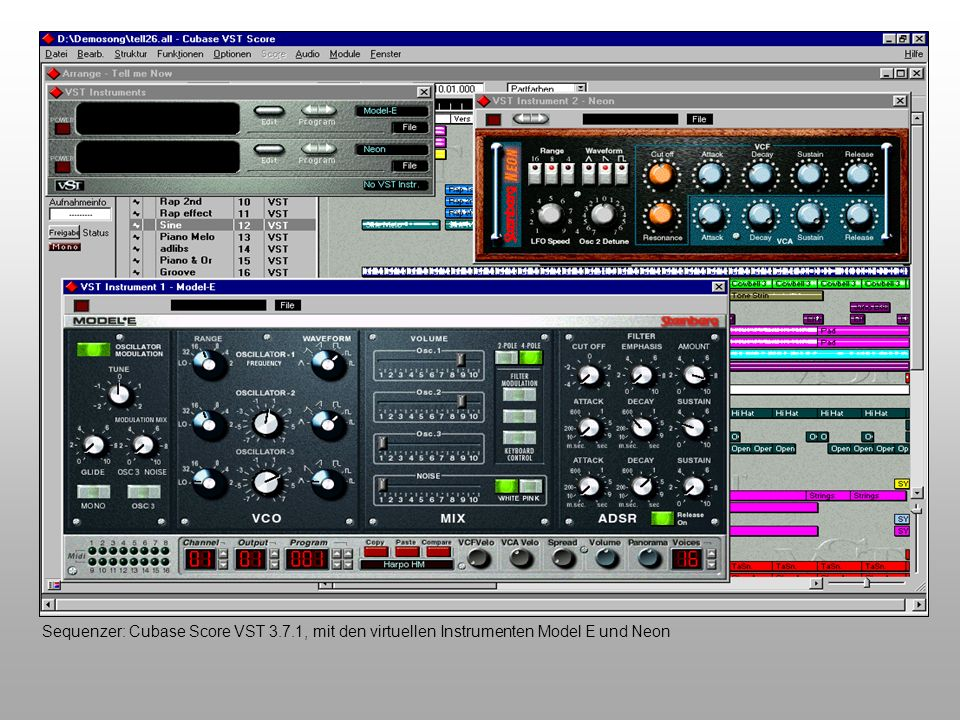 Sequenzer: Cubase Score VST 3. 7