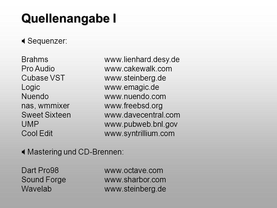 Quellenangabe I Sequenzer: Brahms www.lienhard.desy.de