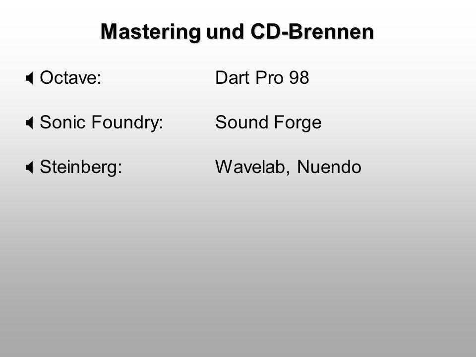 Mastering und CD-Brennen