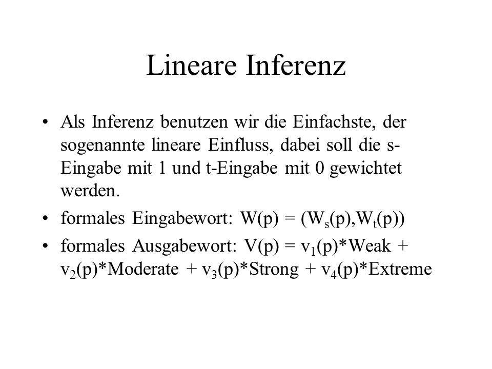 Lineare Inferenz