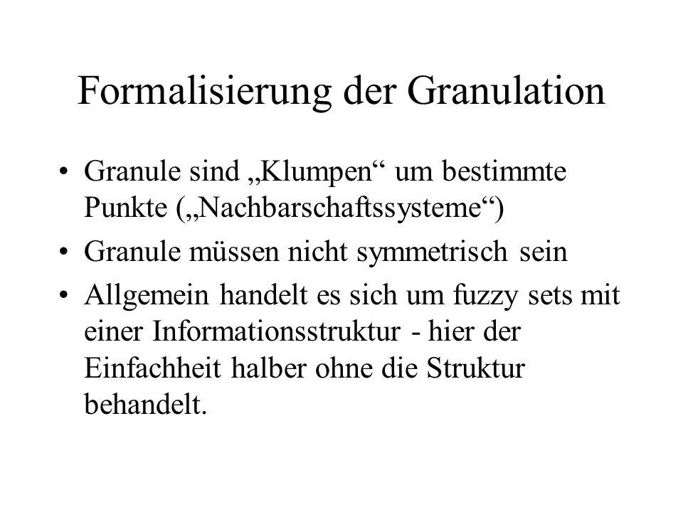 Formalisierung der Granulation