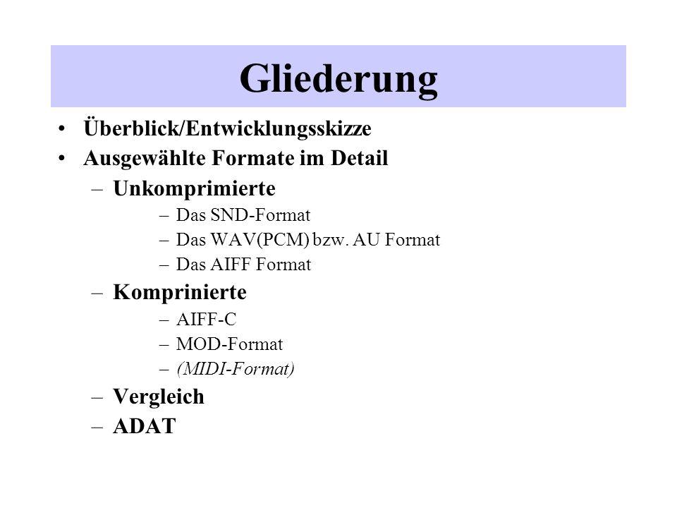 Gliederung Überblick/Entwicklungsskizze Ausgewählte Formate im Detail