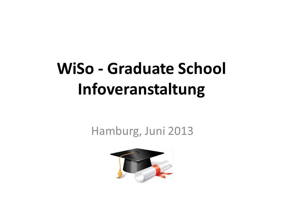 WiSo - Graduate School Infoveranstaltung