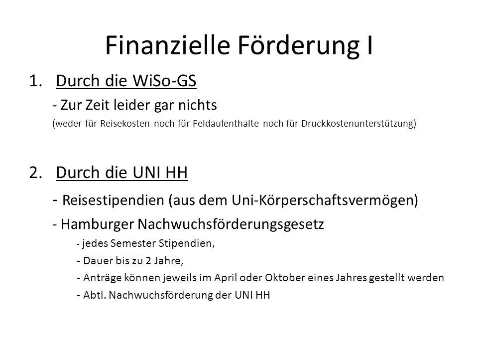 Finanzielle Förderung I