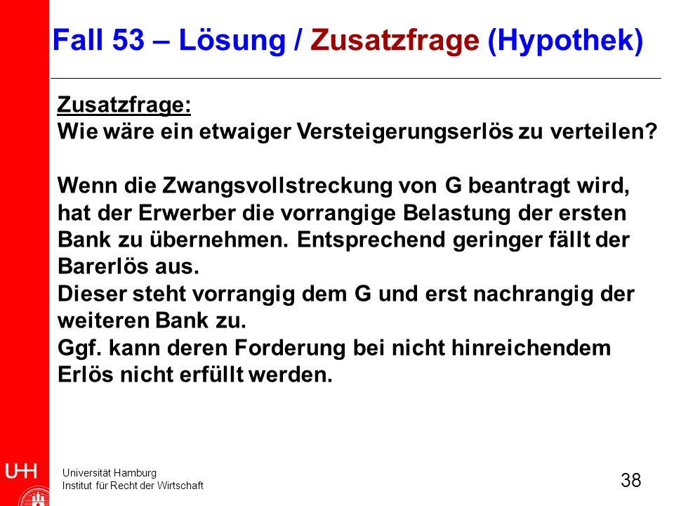 Fall 53 – Lösung / Zusatzfrage (Hypothek)