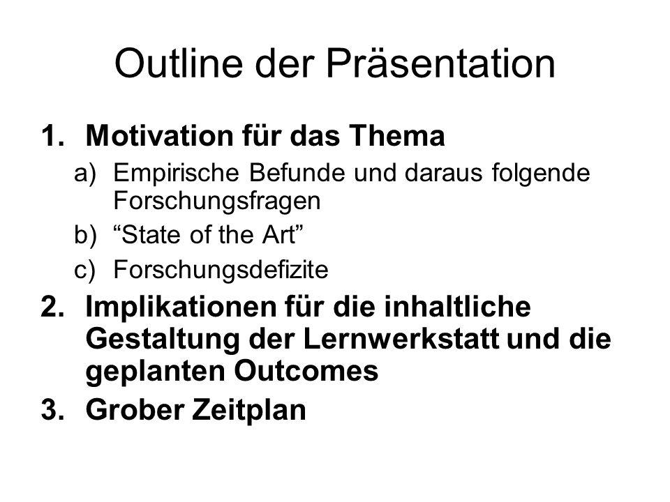 Outline der Präsentation