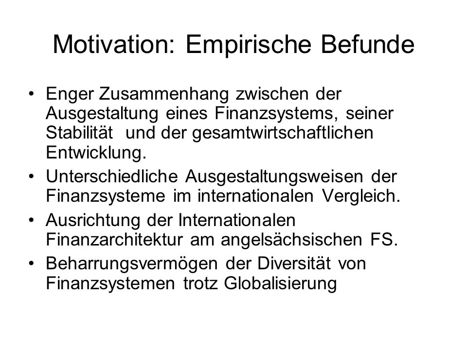 Motivation: Empirische Befunde