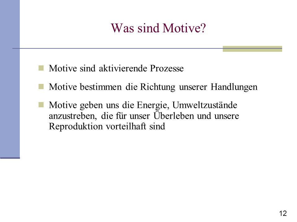 Was sind Motive Motive sind aktivierende Prozesse