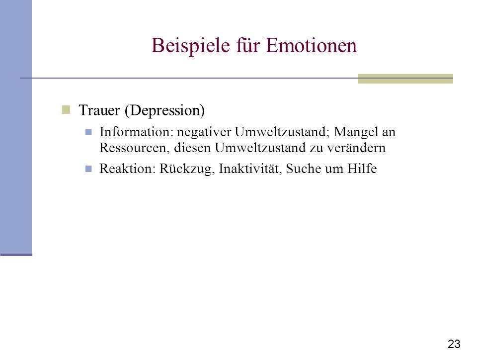 Beispiele für Emotionen