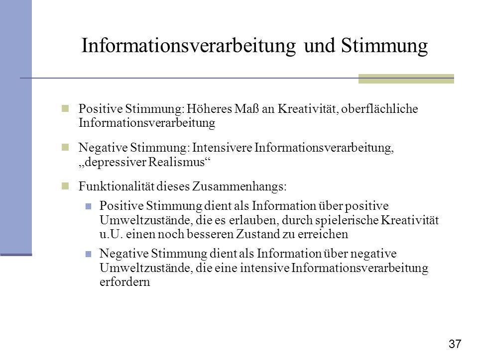 Informationsverarbeitung und Stimmung