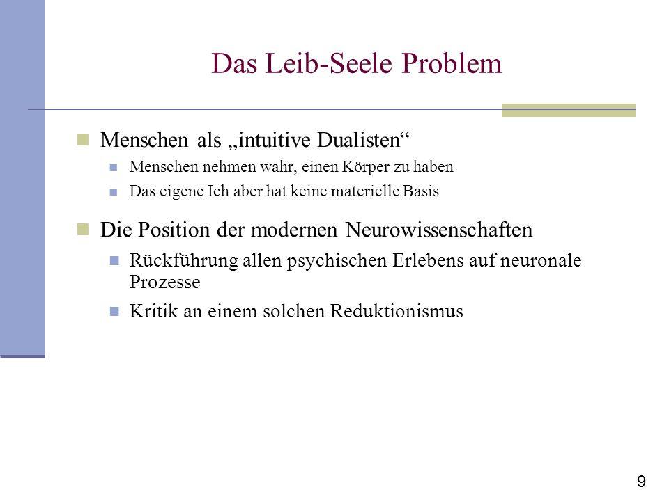 Das Leib-Seele Problem