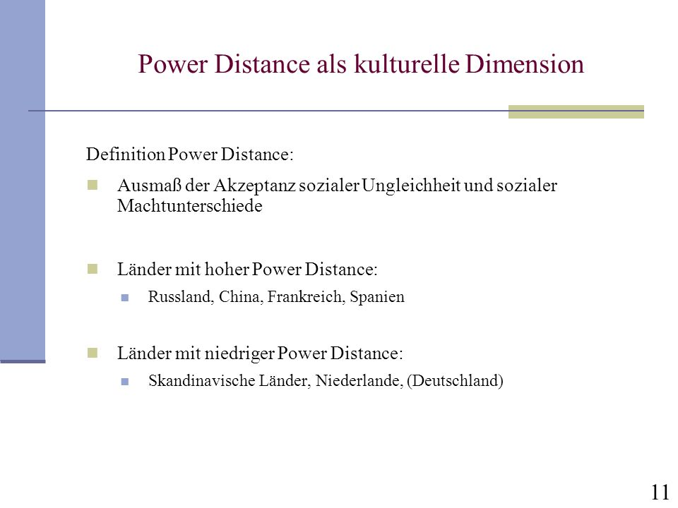 Power Distance als kulturelle Dimension