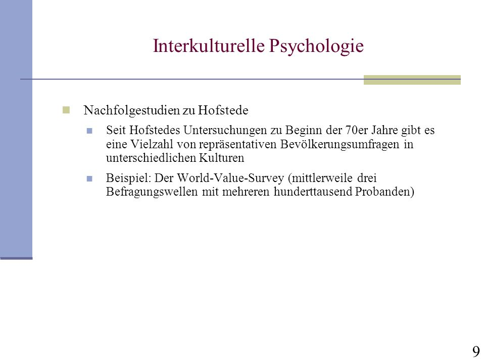 Interkulturelle Psychologie