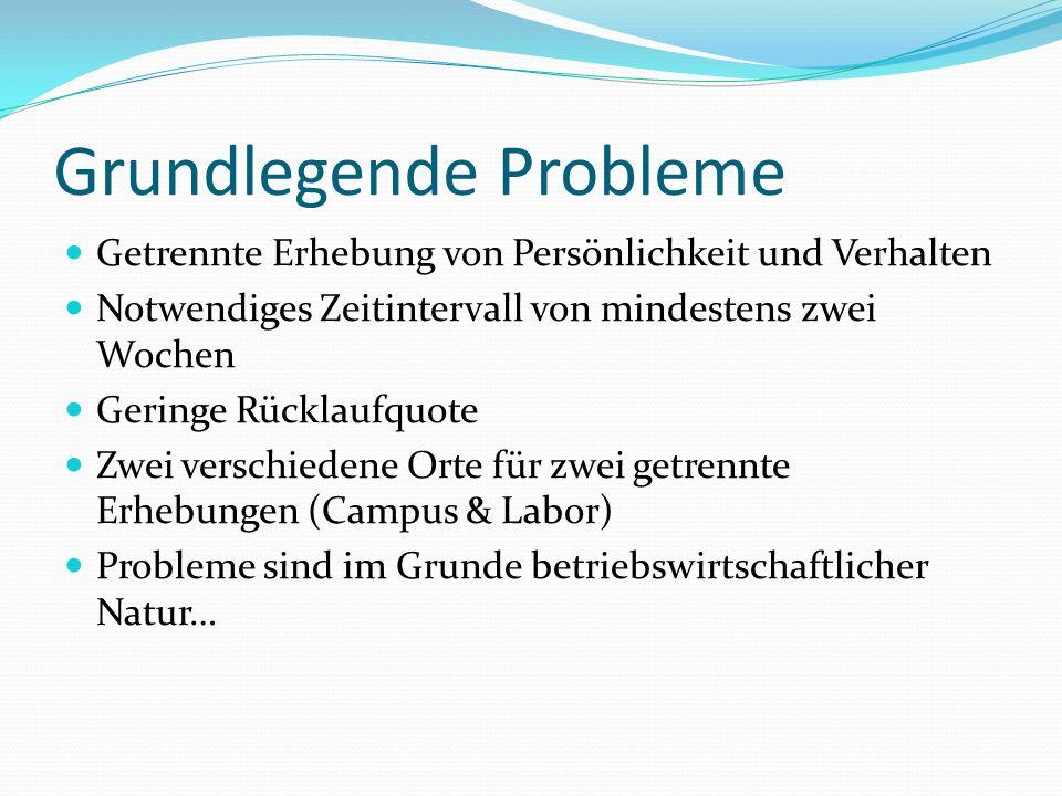 Grundlegende Probleme