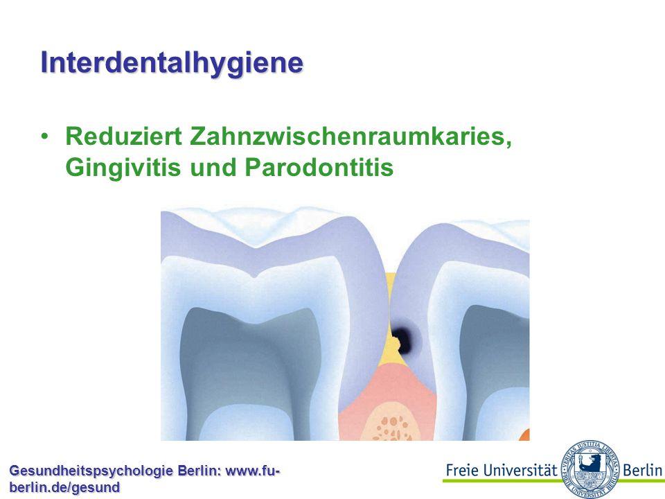 Interdentalhygiene Reduziert Zahnzwischenraumkaries, Gingivitis und Parodontitis