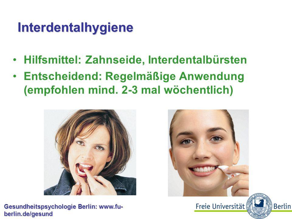 Interdentalhygiene Hilfsmittel: Zahnseide, Interdentalbürsten