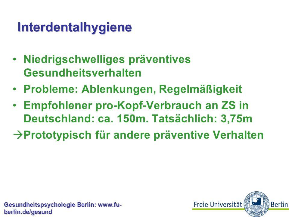Interdentalhygiene Niedrigschwelliges präventives Gesundheitsverhalten