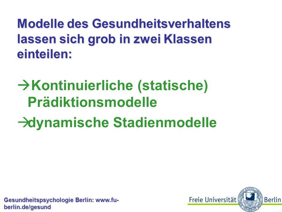Kontinuierliche (statische) Prädiktionsmodelle