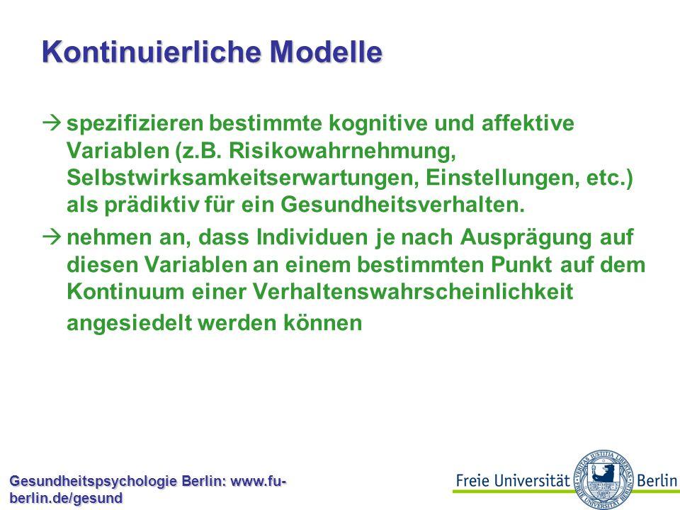 Kontinuierliche Modelle