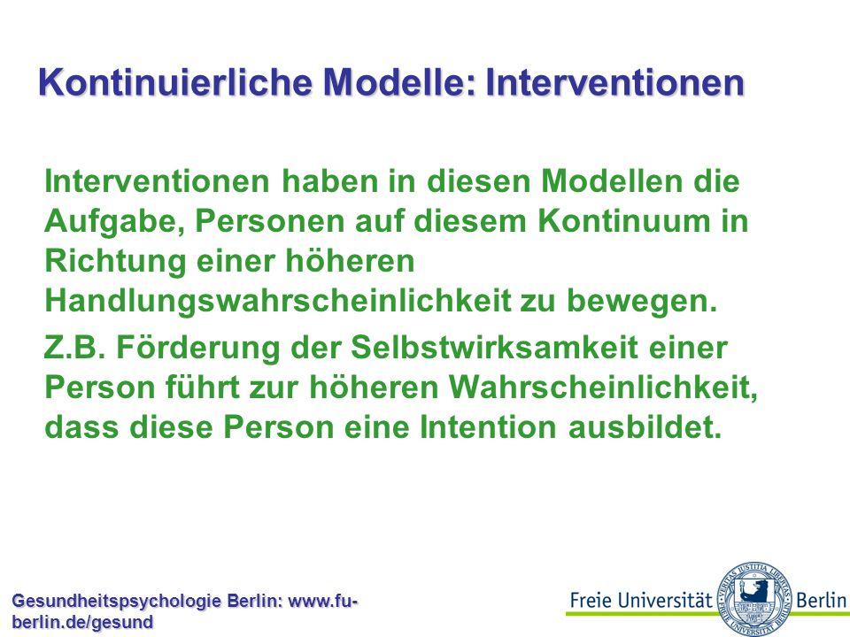 Kontinuierliche Modelle: Interventionen