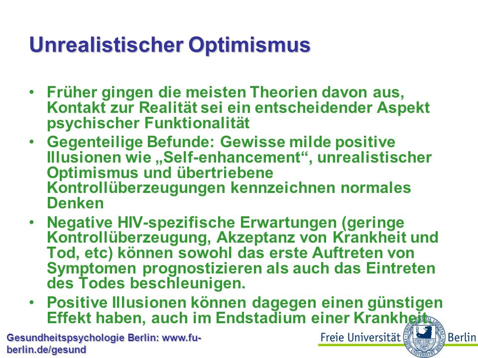 Unrealistischer Optimismus