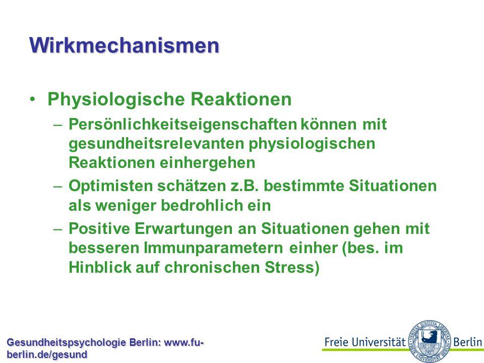 Wirkmechanismen Physiologische Reaktionen