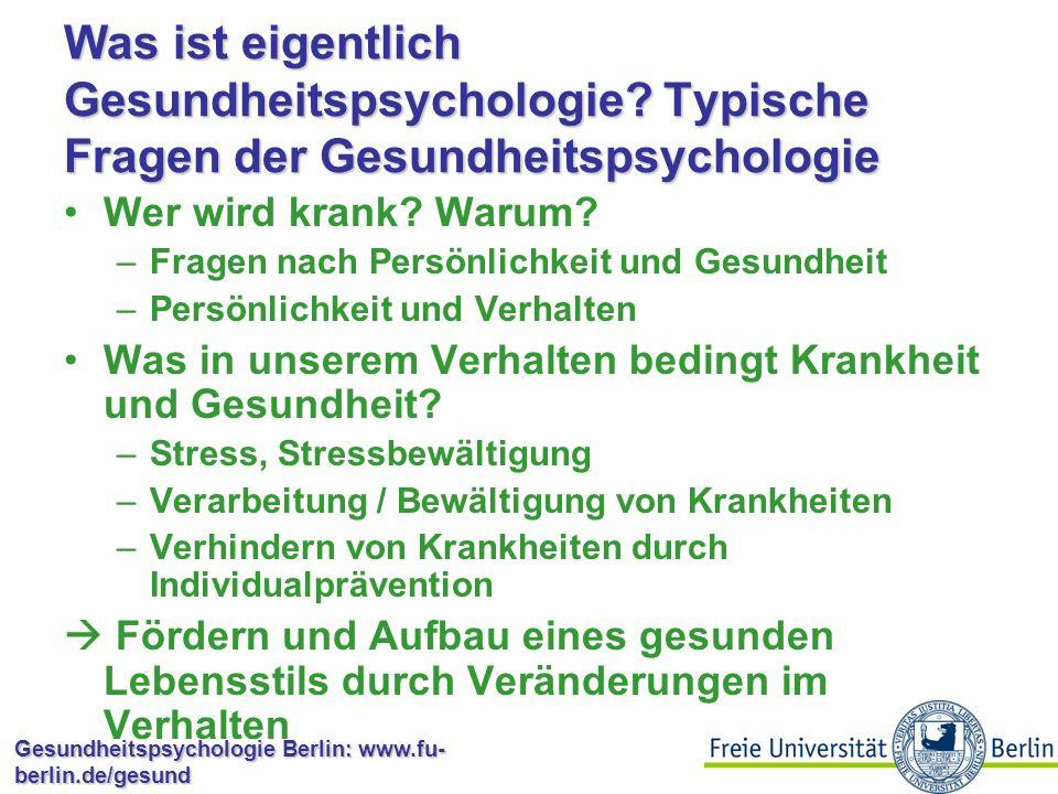 Was ist eigentlich Gesundheitspsychologie